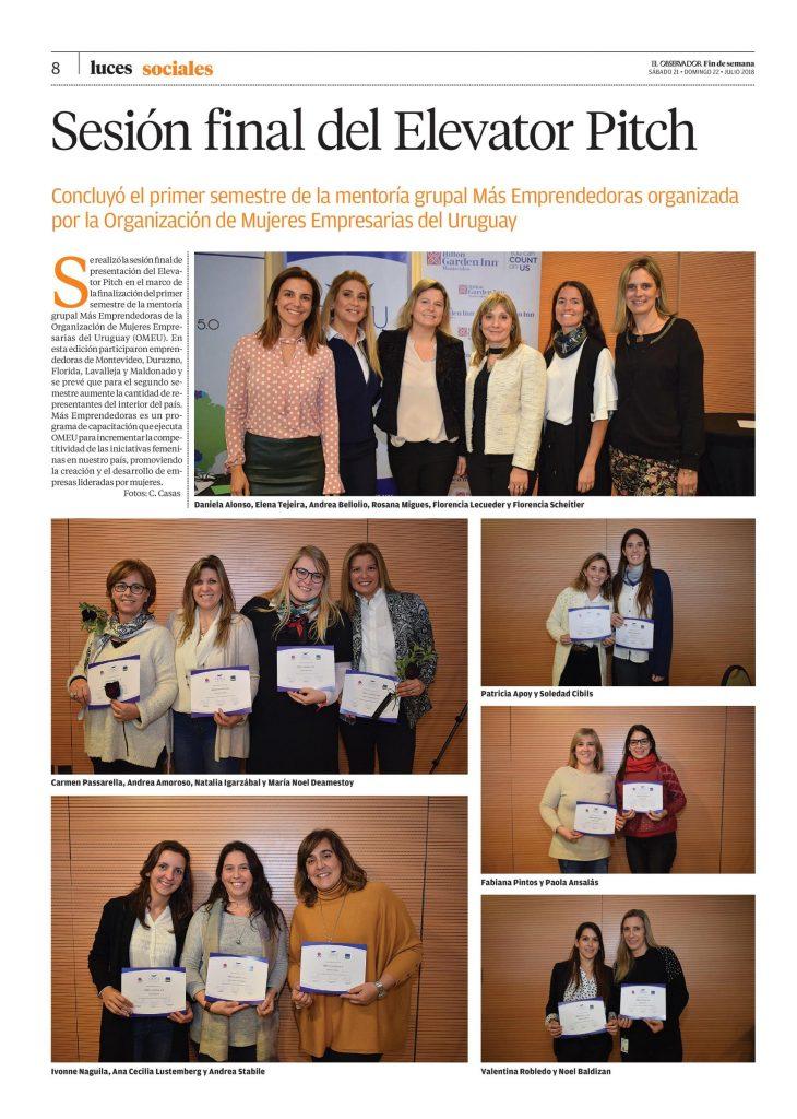 Recorte Diario El Observador - Galería de fotos de Más Emprendedoras